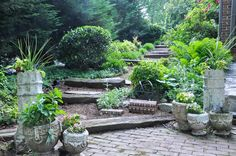 Great Mix Traditional Garden Pottery Landscape Ideas