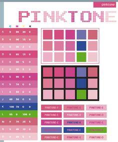 Color Schemes   Pink tone color schemes, color combinations, color palettes for print ...