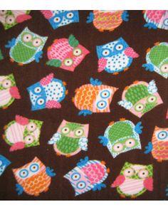 Multi-tossed owls fleece fabric from Jo-Ann