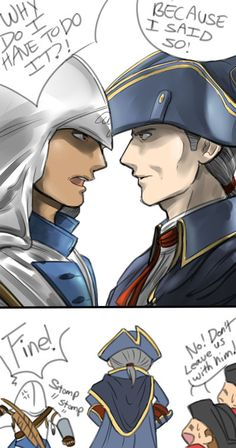 Haytham Kenway, making up for lost parental time. Hahaha oh Connor. Assassin's Creed III.