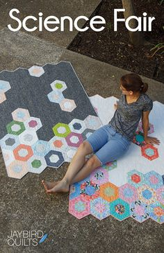 Science Fair quilt pattern from Jaybird Quilts - baby, lap, twin, king - jelly roll friendly