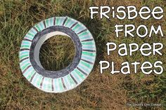 Frisbee from Paper Plates {Kids Craft}