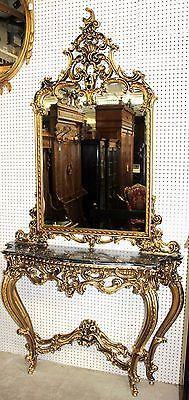 Antique French Carved Gold Gilt Louis XV Console & Mirror Circa 1890 | Artigos antigos, Artes decorativas, Espelhos | eBay!