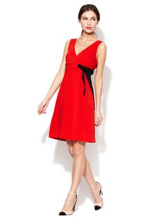 da25aef42 Wrap Bodice Bow Belted Dress by RED Valentino at Gilt