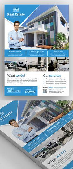 Real Estate Flyer Template #flyerdesign #flyertemplates #postertemplate #posterdesign #psdflyers #businessflyer #corporateflyer