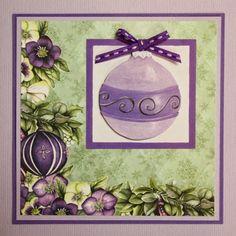 In dit blogbericht zie je 3 paarse kerstkaarten.