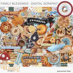 Personal Use :: Kits :: Family Blessings - Digital Scrapkit