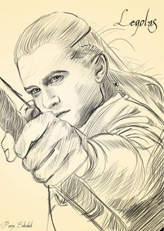 Legolas sketch artwork