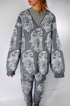 "Quilted ""Pyjamas"" by Masha Lamzina Hand-Bleached Art Prints"