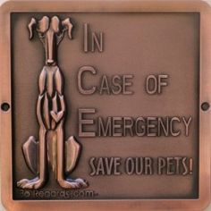 These beautifully crafted fire safety plaques will alert rescue workers in the event of a fire or other emergency within your home.