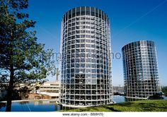 Location: Wolfsburg, Germany  Background:  Volkswagen's Autostadt—an automotive-themed amusement park—includes a car museum, driving courses, car-factory tours and these 20-story car silos.