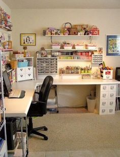 Wish my craft corner could be this big--but until then, some cute and useful ideas!