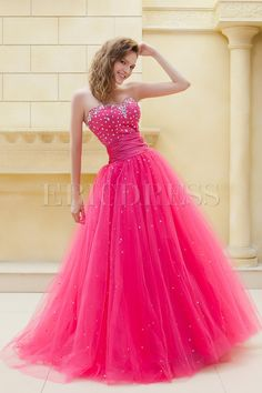 Fantastic Ball Gown Sweetheart Floor-Length Beading Elas Prom/Ball Gown Dress