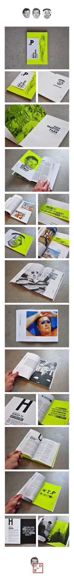 Martin Parr - Monography by Baptiste David, via Behance