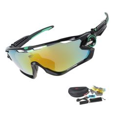 f33654b0606 Amazing Polarized Cycling Glasses - 3 Different Lenses + Case Cycling  Sunglasses