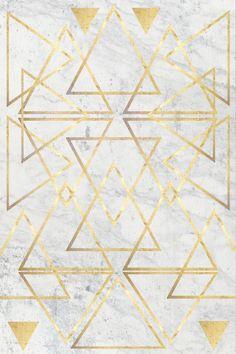 wire gOld triangle by Simona Sacchi