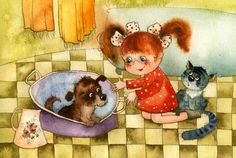 Иллюстрации Виктории Кирдий / Illustrations Victoria Kirdiy