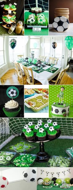 Children's party with soccer theme - Decoration and Fashion Soccer Birthday Parties, Football Birthday, Soccer Party, Football Themes, Ideas Para Fiestas, Party Kit, Childrens Party, Holidays And Events, Party Themes