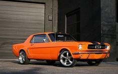 Ford Mustang, 1965, Orange Mustang, vintage cars, classic cars, Ford #mustangvintagecars