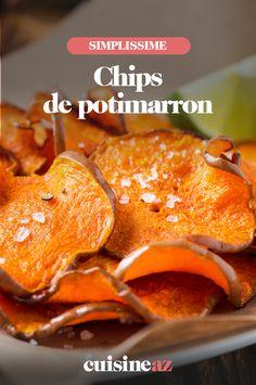 Originales, ces chips maison de potimarron à servir à l'apéritif.  #recette#cuisine#chips#potimarron #courge #apero #aperitif