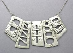 Bridge Necklace by Hadar Jacobson in Fine Silver (PMC)