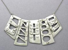 Bridge Necklace by Hadar Jacobson in Fine Silver (PMC)…