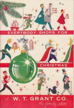 """""""The countdown to has begun. Dig out your old Christmas advertising for tomorrow's Christmas Style, Old Christmas, Old Fashioned Christmas, Retro Christmas, Christmas Holidays, Christmas Shopping, Country Christmas, Christmas Christmas, Primitive Christmas"""