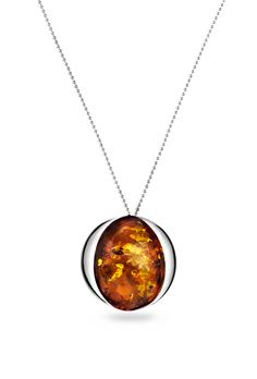House of Amber - Silver necklace with amber.