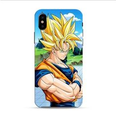 Sun Goku Saiyan iPhone X 3D Case