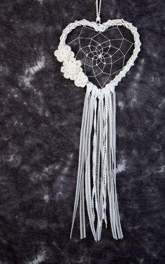 Attrapeur de rêve coeur blanc mariage décor mariage