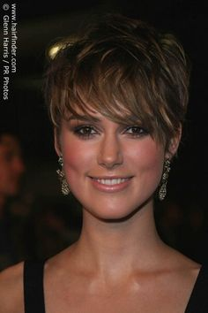 Keira Knightley With Hair Cropped Short