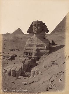 "From an album entitled ""Egypten,""  photograph annotated ""N.46 G - Le Sphinx Armachis deterre"" by Pascal Sebah (Egypt)"
