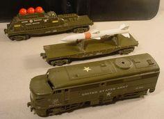 Kusan O Gauge U.S. Army Set (1950s).