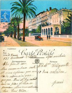 Cannes - L'Hôtel Gonnet et la Promenade de la Croisette - 1924 (from http://mercipourlacarte.com/picture?/1919/)