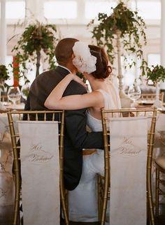Gorgeous wedding chairs - photo by elizabeth messina Wedding Chair Photos, Wedding Chairs, Wedding Pictures, Wedding Blog, Wedding Styles, Dream Wedding, Wedding Ideas, Wedding Bride, Wedding Decor