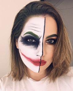 Das Joker-inspirierte Halloween-Make-up . - Das Joker-inspirierte Halloween-Make-up … IG: vangalmua – Art_makeup – - Unique Halloween Makeup, Fröhliches Halloween, Pretty Halloween, Joker Halloween Makeup, Facepaint Halloween, Halloween Tutorial, Family Halloween, Maquillage Wonder Woman, Joker Make-up