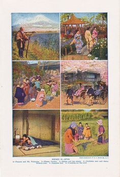vintage illustrations of life in Japan from the 1920's. #vintagejapan #madeinjapan #japanese #1920'sjapan