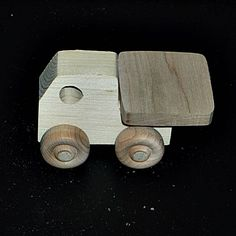 Pkg of 3 Handcrafted Wood Toy Truck 2BH-U-3 unfinished or finished