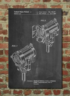 Stage Lighting Patent Poster. Clearly I want this. In navy, probably.