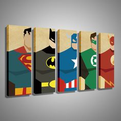 Oil Painting Canvas Super Hero Superman Batman Cartoon Modular Decoration Home Decor Modern Wall Pictures For Living Room - New Deko Sites Home Bild, Reproductions Murales, Batman Cartoon, Batman Spiderman, Superhero Room, Superhero Canvas, Marvel Canvas Art, Superman Room, Living Room Pictures