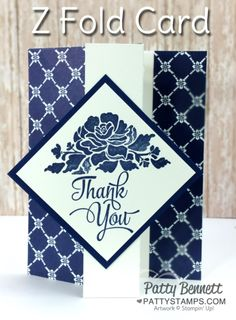 Learn how to make a Z Fold Card featuring the Floral Boutique paper and Floral Phrases stamp set from Stampin' Up!.  Video tutorial…