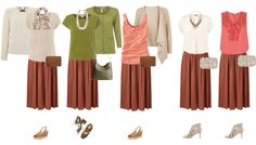 Create a summer capsule wardrobe with a skirt! So many outfit ideas!