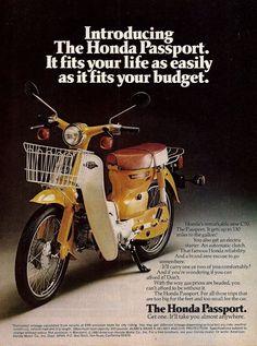 1980 HONDA Passport Vintage Motor Scooter Photo AD