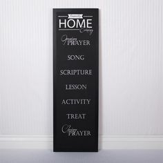 Family Home Sign Chalkboard Wall Décor
