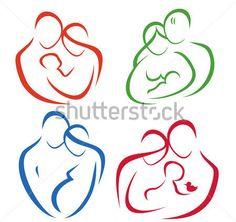 Famiglia Set Di Icone IN Linee Semplici clip art - ClipartLogo.com