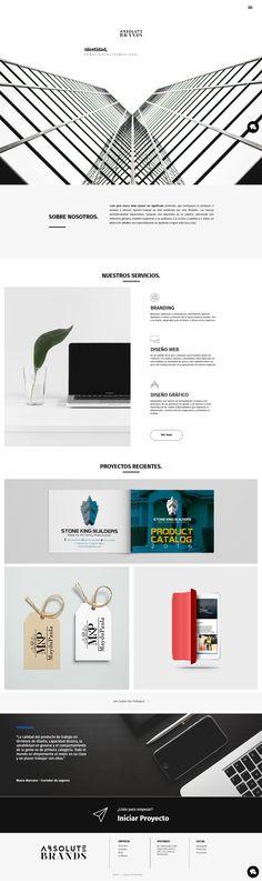 Rediseño web. Branding agency