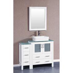"Luckett 42"" Single Bathroom Vanity Set with Mirror"