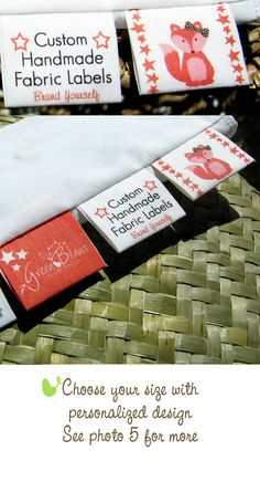 Custom Labels Cotton Fabric Tags for Branding. $18.00, via Etsy.
