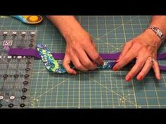 The Quilt Show Tutorial: Julie Cefalu's Tips, Tricks, & Techniques - Binding Tips 1 - YouTube