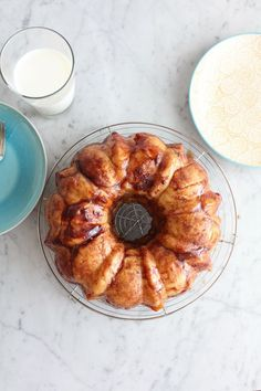 Cinnamon Peach Monkey Bread . .  give this one a try while you can still get great summer peaches!  @aleedallas